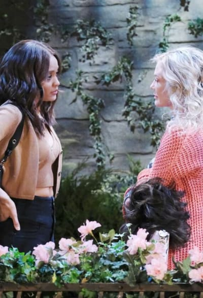 Kristen Pleads With Lani / Tall - Days of Our Lives