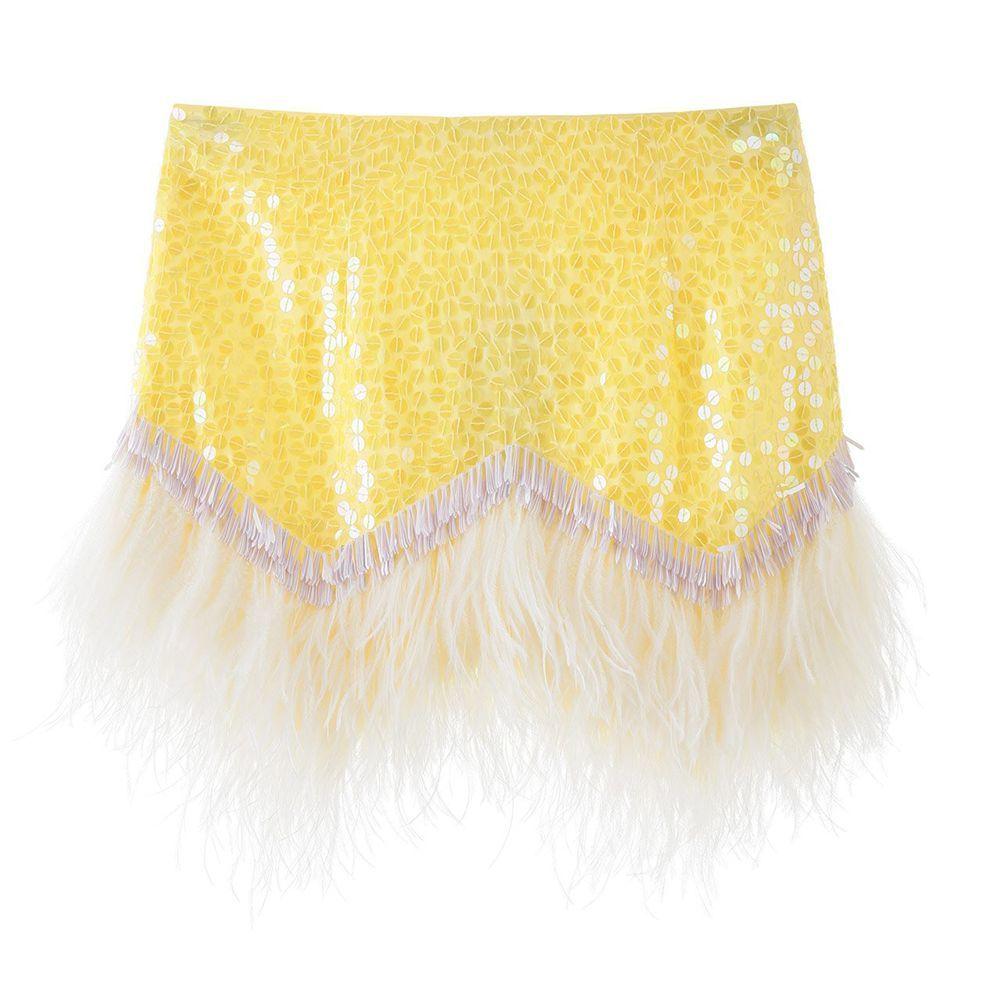 Sequined Mini Skirt