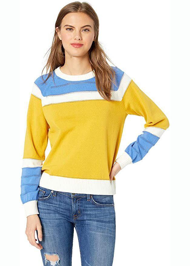 Colorblock Boxy Pullover Sweater