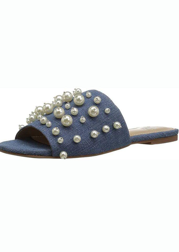 Faris Slide Sandal with Pearls
