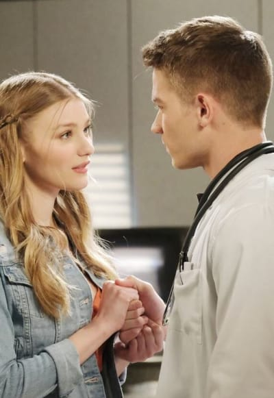 Allie and Tripp Share a Moment / Tall - Days of Our Lives