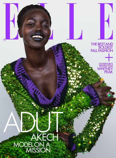 adut takech on the august 2021 cover of elle