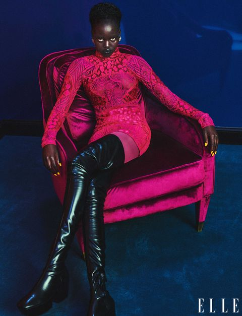 adut takech in tom ford