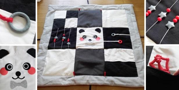 tapis d eveil noir et blanc pour bebe