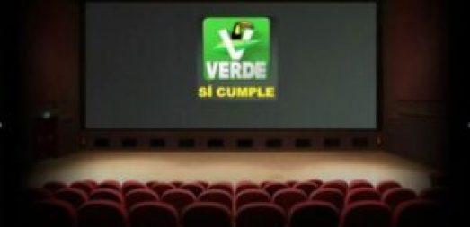 El Partido Verde Ecologista de México se promocionó ilegalmente en los cines. Foto: Internet