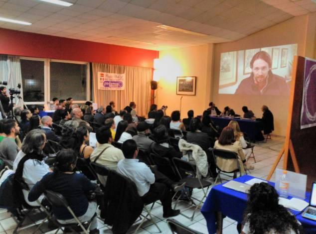 Asamblea de Podemos en la Ciudad de México. Foto: Facebook de Podemos México