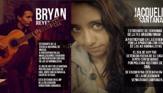 Bryan y Jacquie, presos políticos de Mancera y Osorio Chong