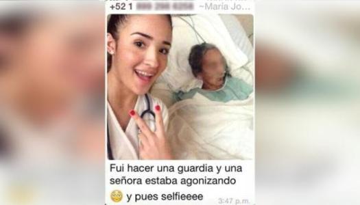 "Como ""recuerdo"", se toma selfie con mujer agonizante"