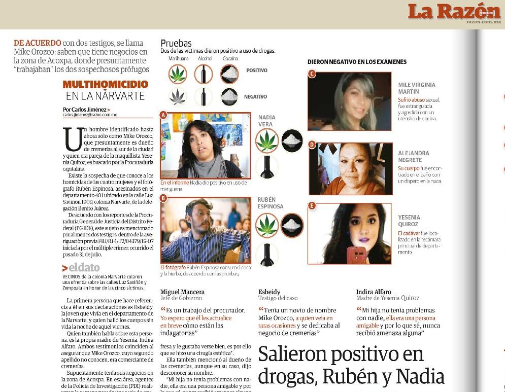 """""""Nota"""" del diario La Razón."""