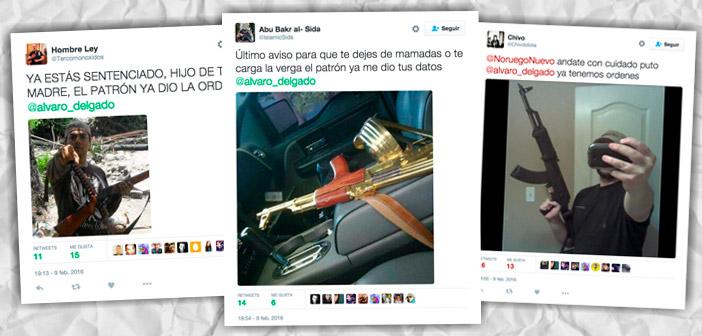 Tweets en los que se amenaza al periodista Álvaro Delgado.