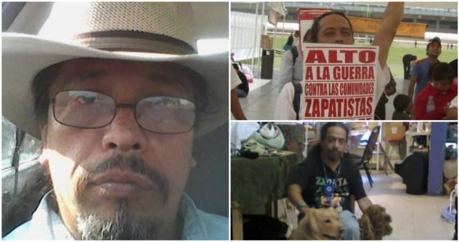 Jairo Guarneros Sosa, el activista que se salvó después del atentado.