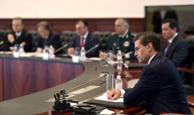 Peña Nieto y su gabinete. Foto: Presidencia de la República