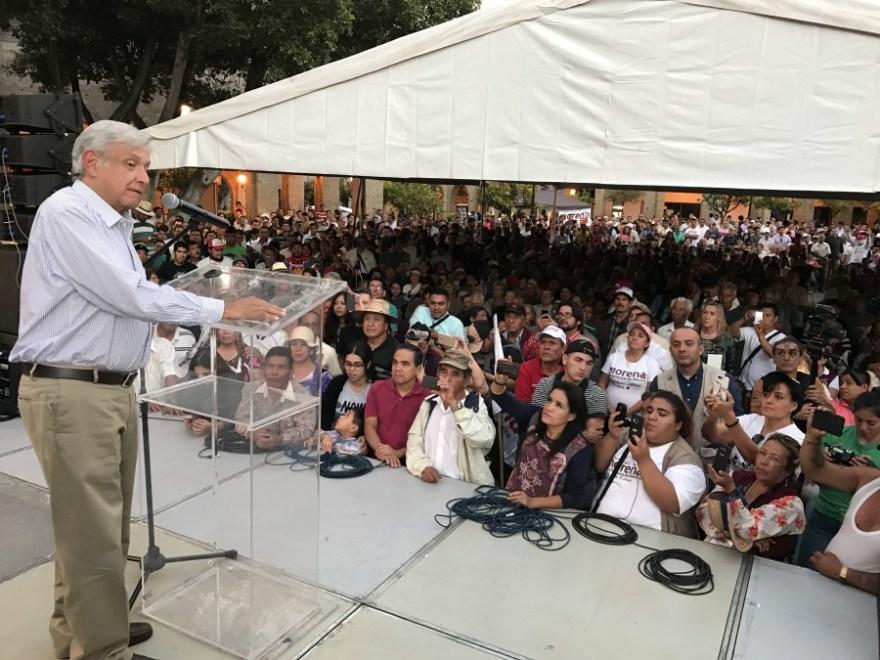 Andrés Manuel López Obrador en Guadalajara. Foto: Especial