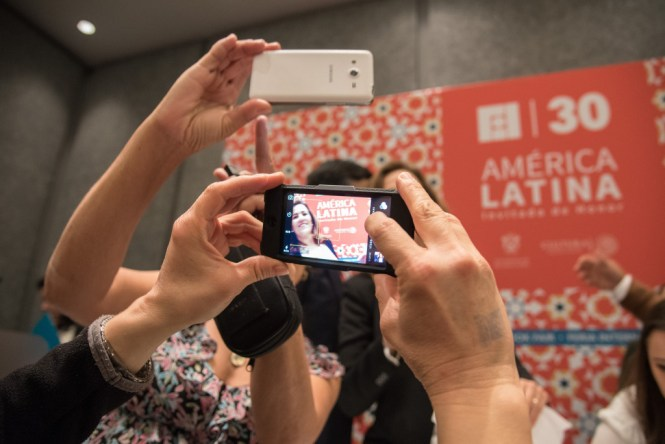 """Presentación del libro """"Mi historia"""" de Margarita Zavala en la Feria Internacional del libro de Guadalajara. Foto: Paula Islas/FIL"""