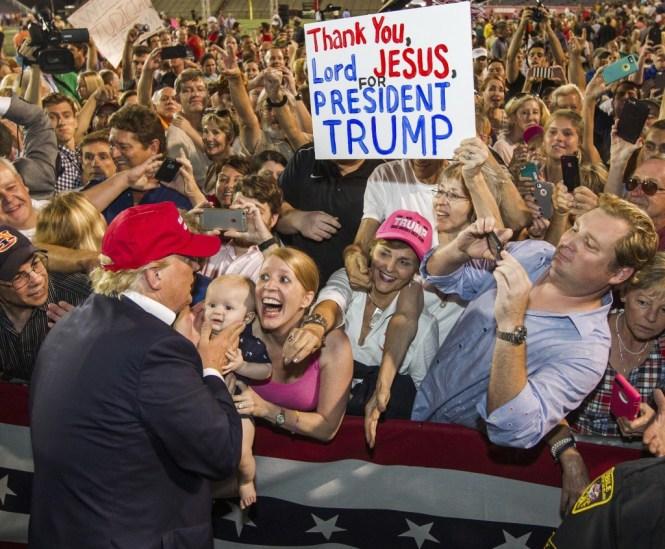 Donald Trump y sus simpatizantes