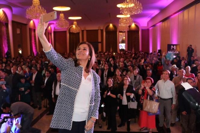 Margarita Zavala en un evento de su plataforma política #TodosSomosMaZ.
