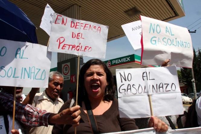 Protesta por el gasolinazo.