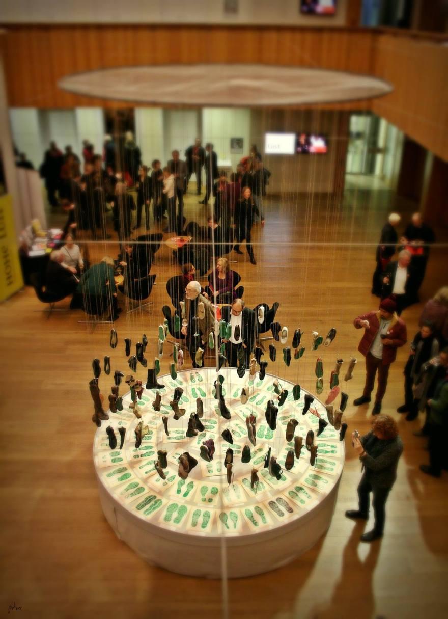 Huellas de la memoria en el Festival de Teatro iberoamericano de Heidelberg, Alemania. Foto: Bonnie Parker