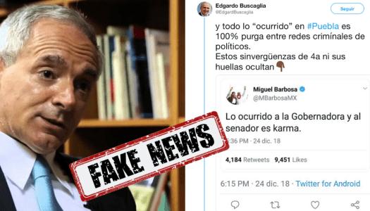 Buscaglia difunde tuit falso de Barbosa y se lanza contra Morena