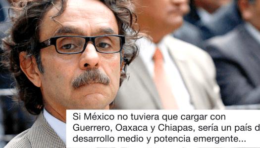 Quadri discrimina a Chiapas, Guerrero y Oaxaca y la gente se lo acaba en redes