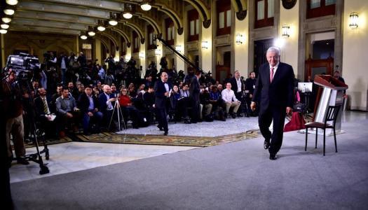 Crónica de una mañanera de AMLO en Palacio Nacional