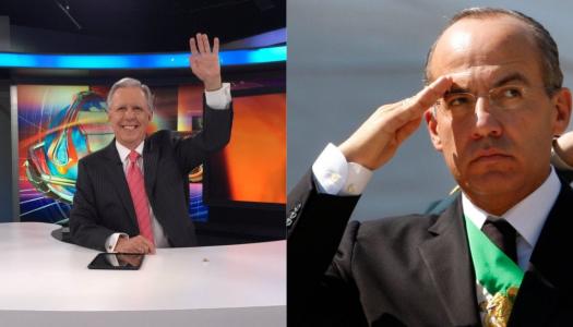 López-Dóriga gana premio y se apresura Calderón a felicitarlo