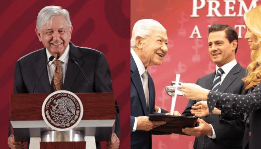 Gobierno de AMLO elimina el Premio Luz de Plata creado por EPN