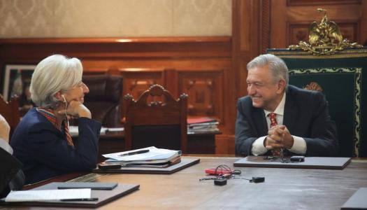 AMLO impresiona a Christine Lagarde, la directora del neoliberal FMI