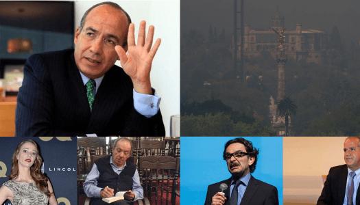 Calderón y sus amigos culpan a AMLO de los incendios forestales