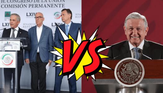 PRI, PAN, PRD y MC se unen contra ley de AMLO que baja sueldo a altos funcionarios