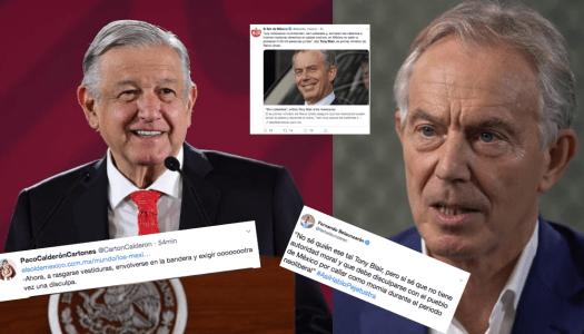 Oposición hace ridiculazo: difunde nota falsa sobre Tony Blair para a atacar AMLO
