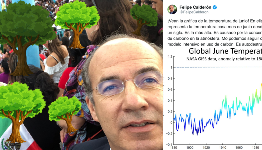 """Felipe Calderón se hace el """"ambientalista"""" y la gente se burla de él"""