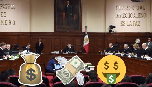 Ministros de la Corte, con sueldos desproporcionados y lujos extravagantes