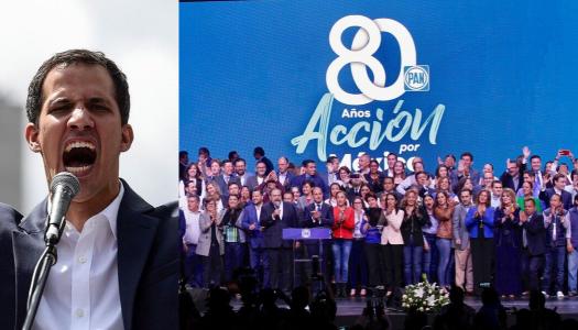 El Golpista de Venezuela Juan Guaidó felicita al PAN por su 80 aniversario