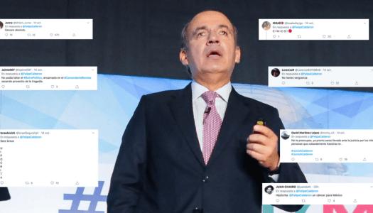 Calderón critica violencia en Michoacán y la gente se lo acaba