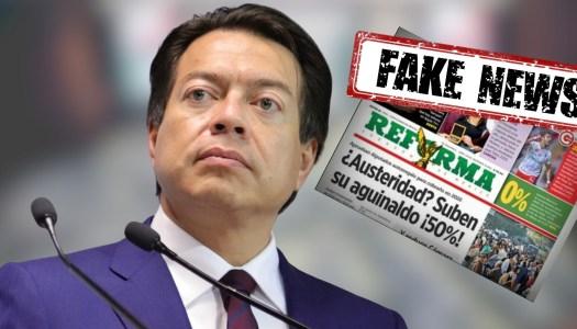 Reforma miente: no hubo aumento al aguinaldo de los diputados