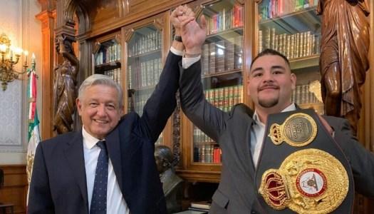 AMLO le desea suerte al boxeador Andy Ruiz