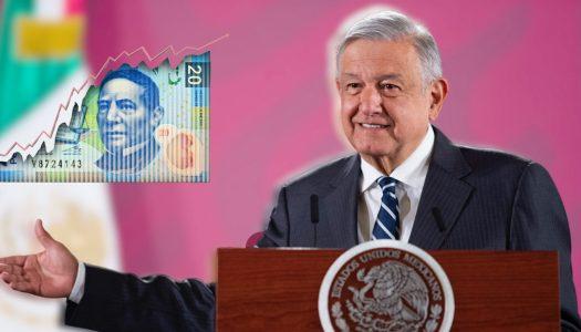 Con AMLO el peso mexicano continúa racha positiva