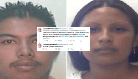Detienen a presuntos asesinos de la niña Fátima