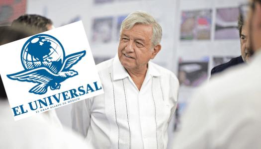 Con notas de El Universal atacan a AMLO desde espacios publicitarios