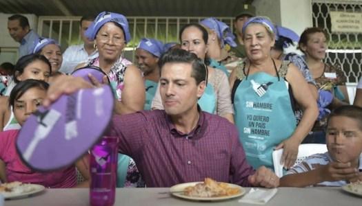 Cruzada contra el Hambre de Peña Nieto no sirvió de nada