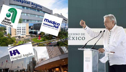 Logra AMLO que hospitales privados atiendan derechohabientes durante epidemia