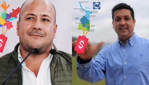 Alfaro y Cabeza de Vaca ya endeudaron a Jalisco y Tamaulipas