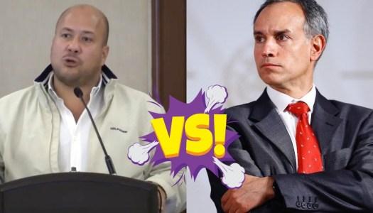 """Alfaro enloquece: insinúa que López Gatell es un """"traidor a la patria"""""""