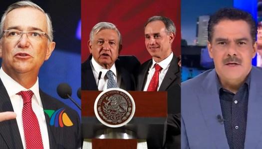 La bajeza de TV Azteca y Salinas Pliego contra AMLO y López-Gatell