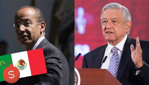 Calderón quiere que AMLO endeude a México por crisis del Covid-19