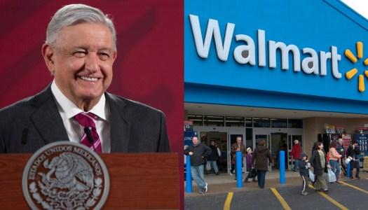 AMLO consigue que Walmart pague deuda de 8 mil millones al SAT