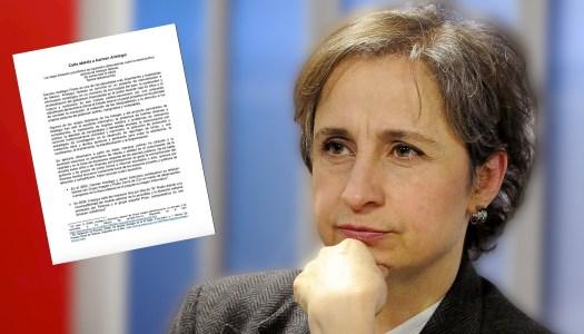 """Radioescuchas de Carmen Aristegui la critican y le piden """"no nos falles"""""""