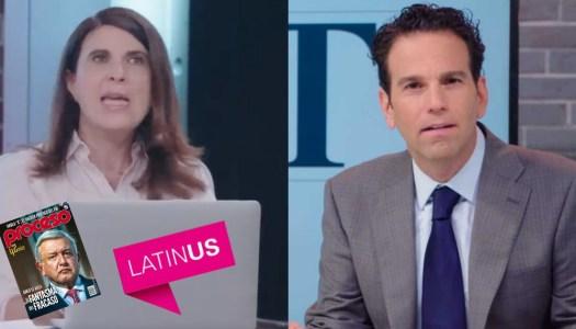 Loret ficha en Latinus a María Scherer, antiAMLO y dueña de Proceso