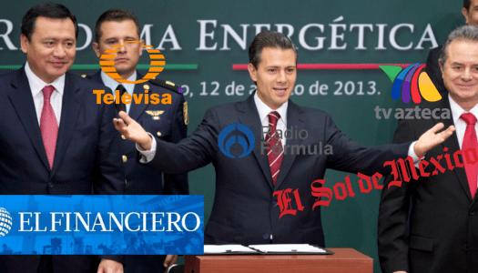 Los medios, otros grandes beneficiados con la reforma energética de EPN